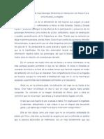 Configuración de los personajes femeninos en interacción con Arturo Cova en la novela La vorágine