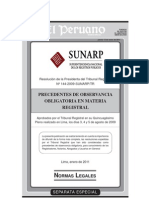 PRECEDENTES DE OBSERVANCIA OBLIGATORIA SUNARP 2009