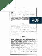 Resoluc. 054 - Adopcion Politica Ambiental Institucional