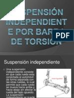 Suspensión independiente por barra de torsión