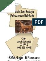 Makalah Seni Budaya ( Babilonia )/mancanegara