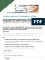 II Jornadas Nacionales de TIC e Innovación en el Aula - UNLP