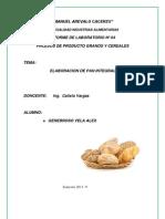 informe N°4 pan integral