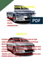 Marketing Strategies of Honda