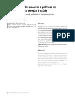 Ética, direito dos usuários e políticas de humanização da atenção á saúde