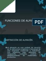 6.1 FUNCIONES DE ALMACEN