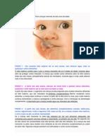 10 passos para alimentação saudável da criança