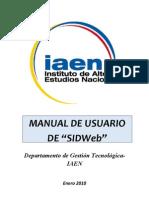 Manual Sidweb
