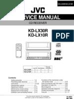 Manual de Servicio Autoestereo JVC Modelo KD-LX10R KD-LX30R