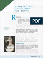 BOUCHARD, Jean Francois - Estudio arqueológico del sitio El Morro, Tumaco