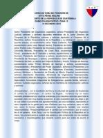 DISCURSO DE TOMA DE POSESIÓN