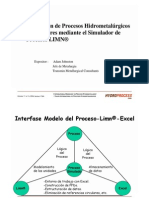 Simulation of Hydro Metallurgical Process in Reactors by the Process Simulator Limn