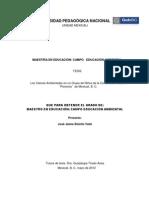 tesis maestría en Educación Ambiental. Ps. Jaime Botello Valle