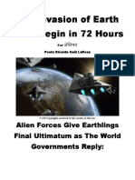 The Invasion of Earth in 72 Hours