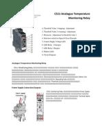 C511 Analogue Temperature Monitoring Relay-1