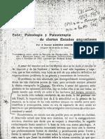 Psicologia y pia en Algunos Estadios Angustiosos 1910. German Grevel