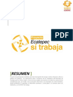Proyecto Ecatepec Si Trabaja mayo-junio 2012