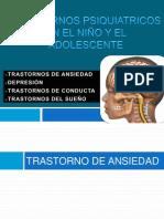 TRASTORNOS PSIQUIATRICOS EN EL NIÑO Y EL ADOLESCENTE