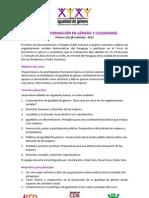 Curso de Formación en Género y Ciudadanía 2012 - Convocatoria