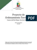 Proyecto de Ordenamiento Territorial, de la cuenca del Rio Maipo.