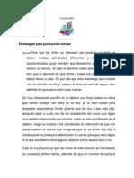 Estrategias para producción textual