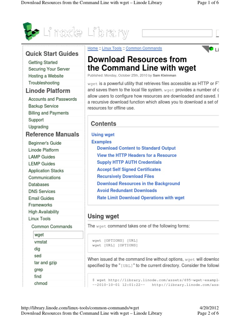 Download Resources From the Command Line With Wget