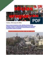 Noticias Uruguayas Viernes 18 de Mayo de 2012