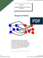 Node Matching - Hungarian Method