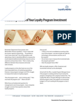 Measuring Results of Your Loyalty Program Investment