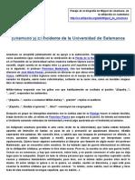 Unamuno y el incidente en la Universidad de Salamanca