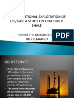 Unconventional Exploitation of Oilgas a Study on Fractured Shale