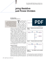 Designing Resistive Unequal Power Dividers