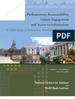 Governance Parliamentary Monitoring Organizations Survey September 2011