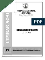 Soal UN SMP Bahasa Indonesia (C1) Tahun 2010
