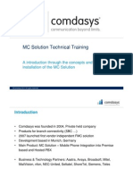 MC Solution Technical-training