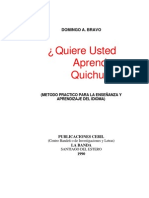 ¿Quiere Ud. aprender Quichua-Domingo A.Bravo