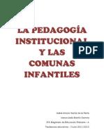 LA PEDAGOGÍA INSTITUCIONAL Y LAS COMUNAS INFANTILES