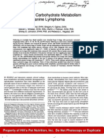 Alterations in Carbohydrate Metabolism - Canine Lymphoma, Vail, 1990
