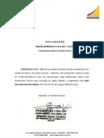 DECLARAÇÃO RESPONSÁVEL TÉCNICO