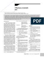 Article - Impact Factor of Pharmacy Journals - The Indian Scenario