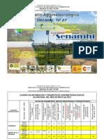 Boletín Agrometeorológico Decadal Nro. 27 para el cultivo de Quinua en la ecoregión Altiplano Centro y Sur-Mayo 2012