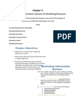 Chapter 7 Marketing Information Systems & Marketing Research
