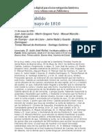 Cabildo de Buenos Aires - Acta del 25 de Mayo - 1810