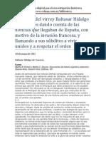 Cisneros, Baltasar Hidalgo - Proclama del virrey Baltasar Hidalgo de Cisneros - 18 de mayo de 1810