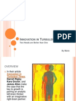 Innovation in Turbulent Times