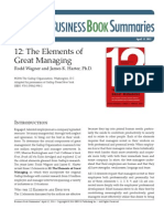 12_The Elements of Great Managing
