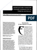 Agricultura Familiar y Paisajes en La Antigua Grecia