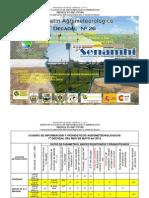 Boletín Agrometeorológico Decadal Nro. 26 para el cultivo de Quinua en la ecoregión Altiplano Centro y Sur-Mayo 2012