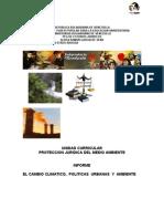 Informe Tema III-proteccion Ambiental y El Cambio Climatico