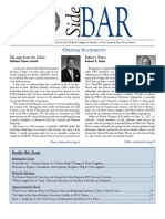 SideBAR • Published by the Federal Litigation Section of the Federal Bar Association • Spring 2012